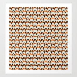 Seamless Dachshund pattern Art Print