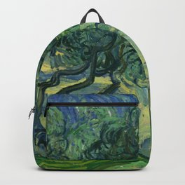 """Vincent van Gogh """"Olive Trees with the Alpilles in the Background"""" Backpack"""