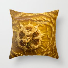 Crime Rules Throw Pillow