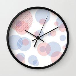 Pastel Circles Wall Clock