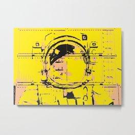 Urban Spaceman Grafitti  Metal Print
