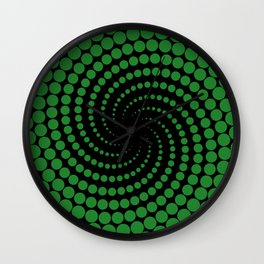 green spiral Wall Clock