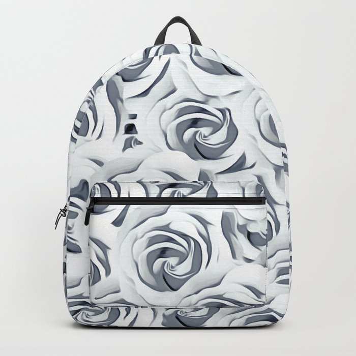 rose pattern texture abstract background in black and white Rucksack