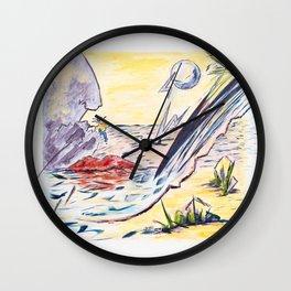 X voYages de Zed (toile 14 - série 1) Wall Clock