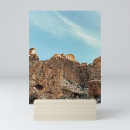 mountain skies Mini Art Print