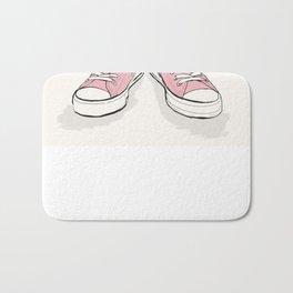 Pink Converse  Bath Mat