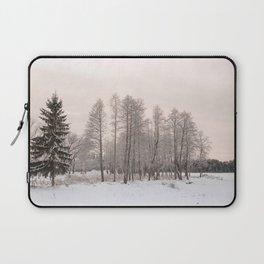 russian snowy trees Laptop Sleeve