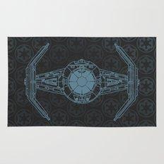 Darth Vader TIE Advanced X1 Blueprint - Star.Wars Rug