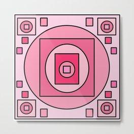 Symmetrical Pink 1 Metal Print