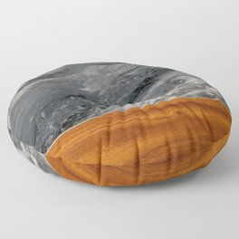 Marble and Wood 3 Floor Pillow