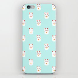 Lucky happy Japanese cat pattern iPhone Skin
