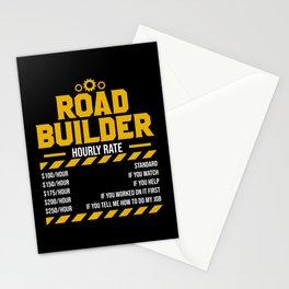 Asphalt Paving Road Construction Road Worker Stationery Cards
