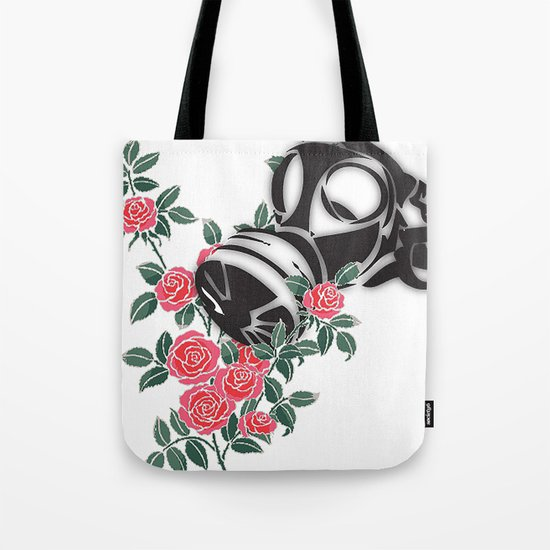 smell the roses - gas mask Tote Bag