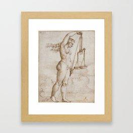 Allegory of Justice, 1533 Framed Art Print