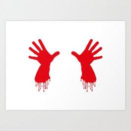 Bleeding Hands Art Print