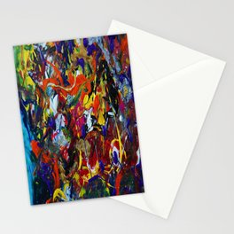 Abstract Experiment Stationery Cards