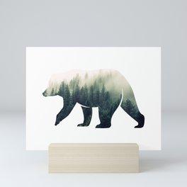 Bear in the Forest Mini Art Print