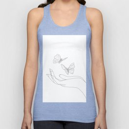 Butterflies on the Palm of the Hand Unisex Tank Top