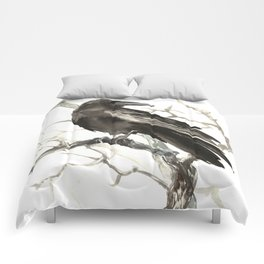 Raven on the Tree Comforters