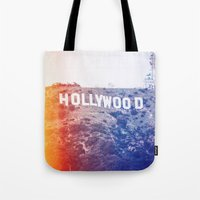 hollywood Tote Bags featuring Hollywood by Laura Ruth