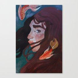 Fishbowl Gal Canvas Print