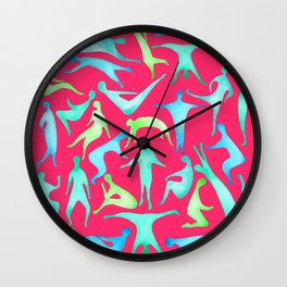People on pink Wall Clock