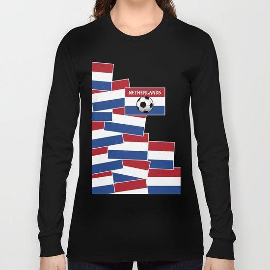 Netherlands Flag Football Long Sleeve T-shirt