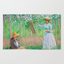 Monet - In the Woods at Giverny Rug