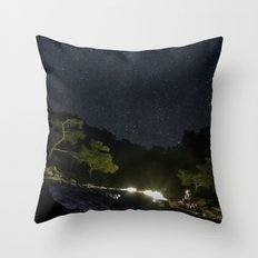 Chimaera and the Galaxy Throw Pillow