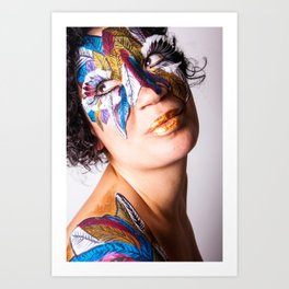 Anita Feather III. Art Print