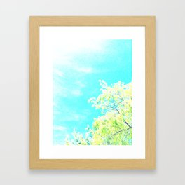 Bright Trees Against Blue Framed Art Print