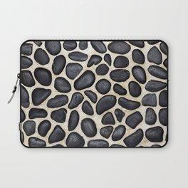 Black Pebble Floor Set in Cement Laptop Sleeve