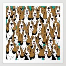 cute dogs Art Print