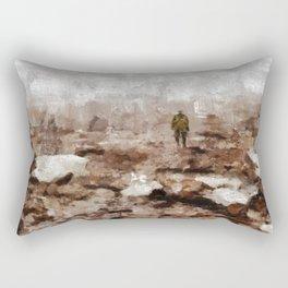No Mans Land, WWI Rectangular Pillow
