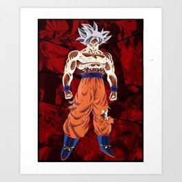 Goku Ultra Instict vs Broly Art Print