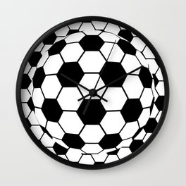 Black and White 3D Ball pattern deign Wall Clock