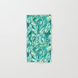 BANANA LEAF JUNGLE Green Tropical Hand & Bath Towel