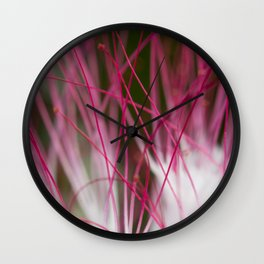 White and pink natural texture Wall Clock