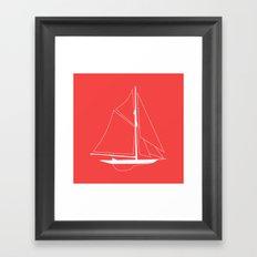 Nautical Boat Framed Art Print