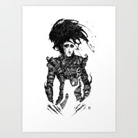 edward scissorhands Art Prints featuring Edward Scissorhands by Ben BASSO