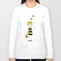 bees Long Sleeve T-shirts featuring Bees by Flora