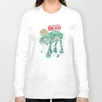 dead Long Sleeve T-shirts featuring Walker's Dead by Victor Vercesi