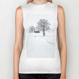 Rural Winter Landscape Biker Tank