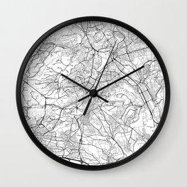 Stuttgart Map White Wall Clock