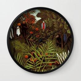 "Henri Rousseau ""Exotic landscape"", 1908 Wall Clock"