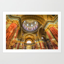 St Stephen's Cathedral Budapest Art Print