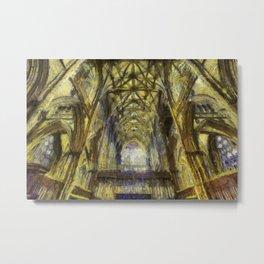 York Minster Van Gogh Style Metal Print