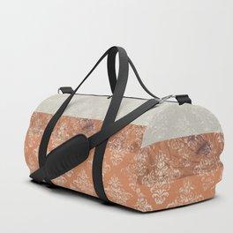 Layers Damask Peach Duffle Bag