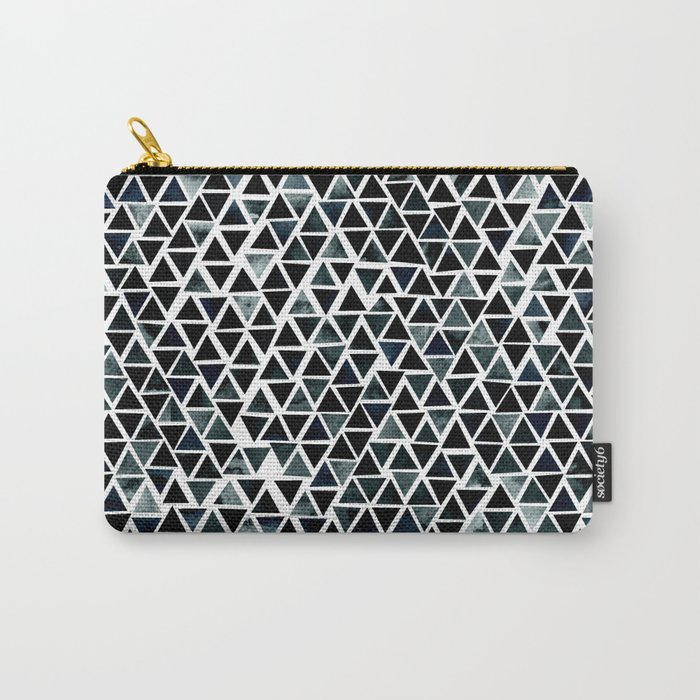 Black Triangles Pattern 01 Carry-All Pouch