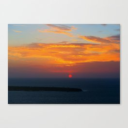 Sunset in Oia Santorini cv Canvas Print
